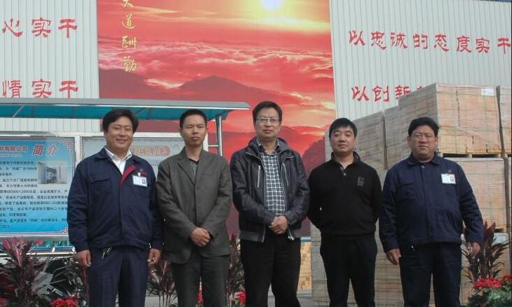 鄂尔多斯氯碱化工客户来访郑州科威耐材
